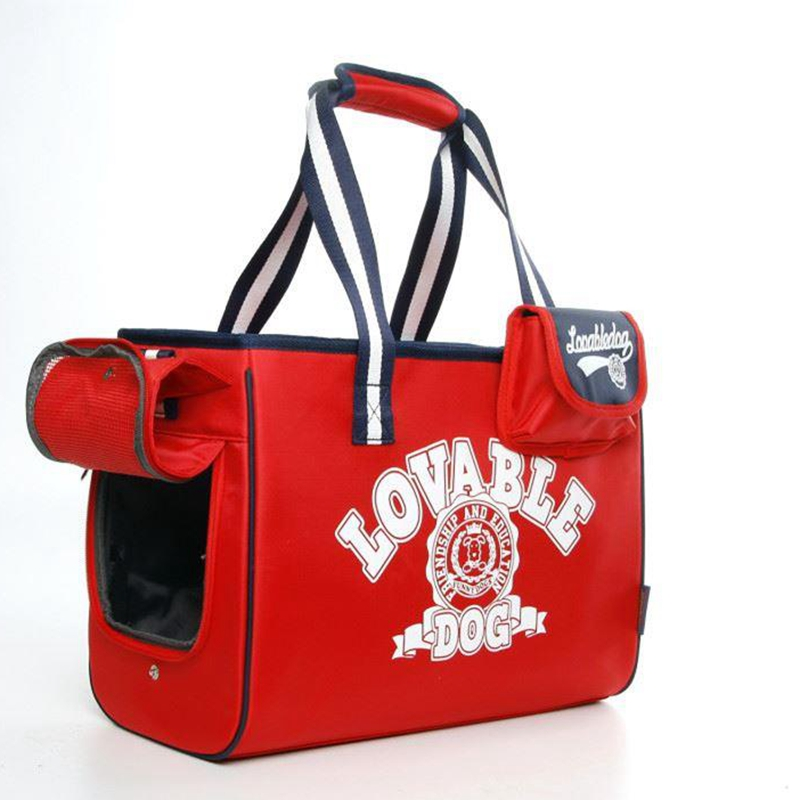 New Carrier For Dogs Blue Red America Style Pets Travel Bags With Snack Bag For Puppy Small Animals Yorkshire Chihuahua
