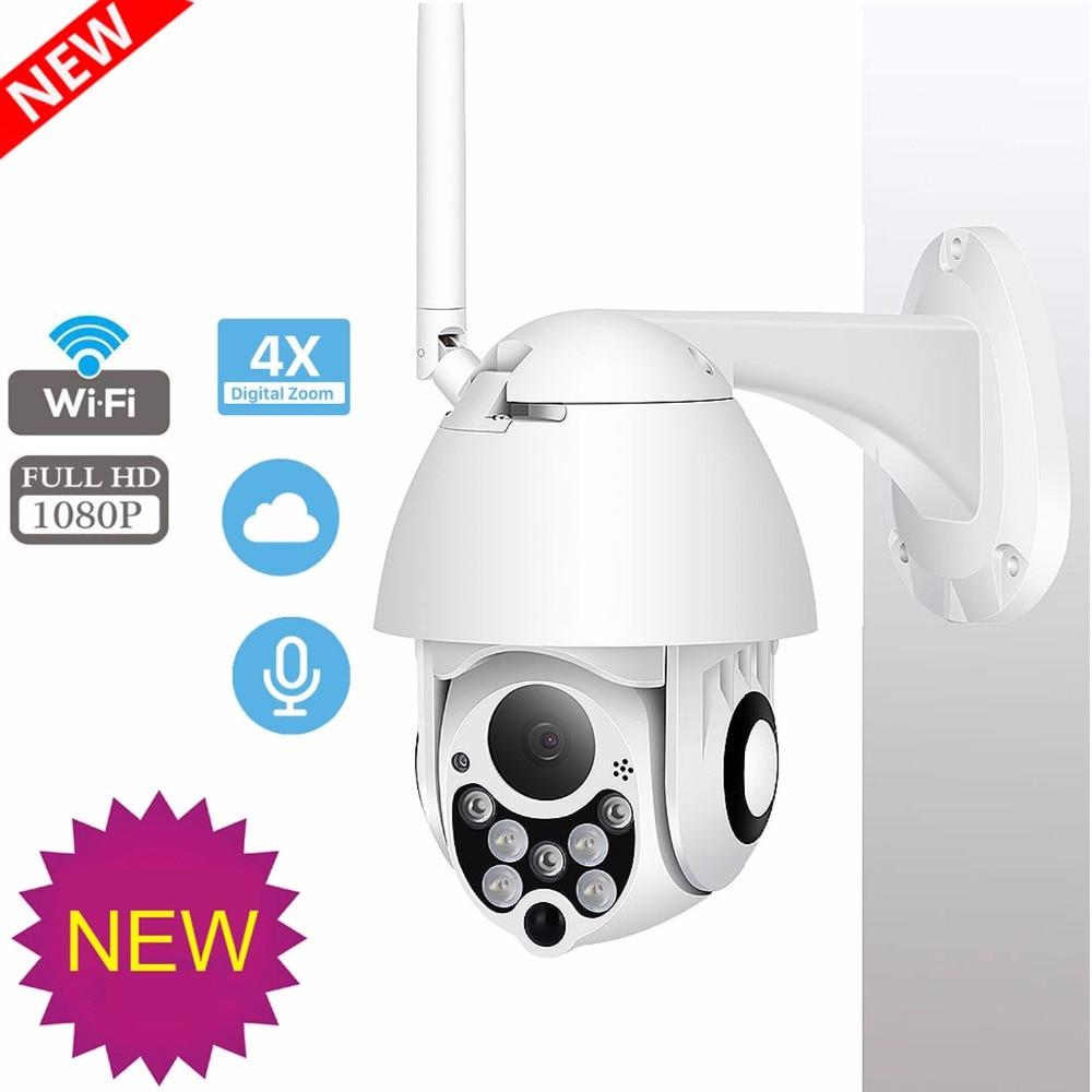 IP Camera Outdoor PTZ HD 1080P Speed Dome Cctv Pan Tilt Zoom Surveillance Camara Wifi Exterior IP66 Onvif Rotary Ip Camera Ipcam