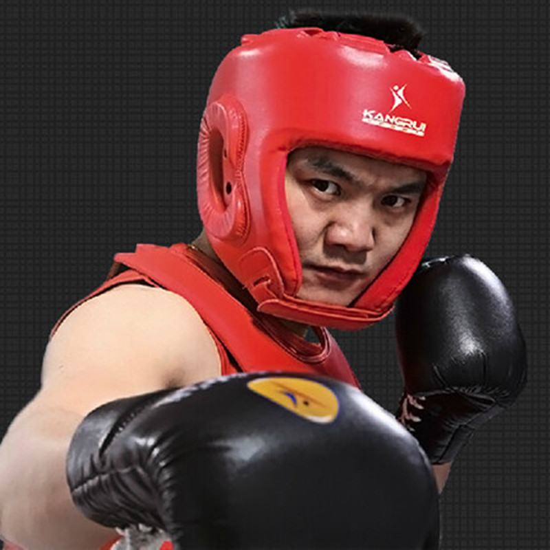 2pcs Headgear Head Guard Helmet Training Kick Boxing Sparring Face Protector