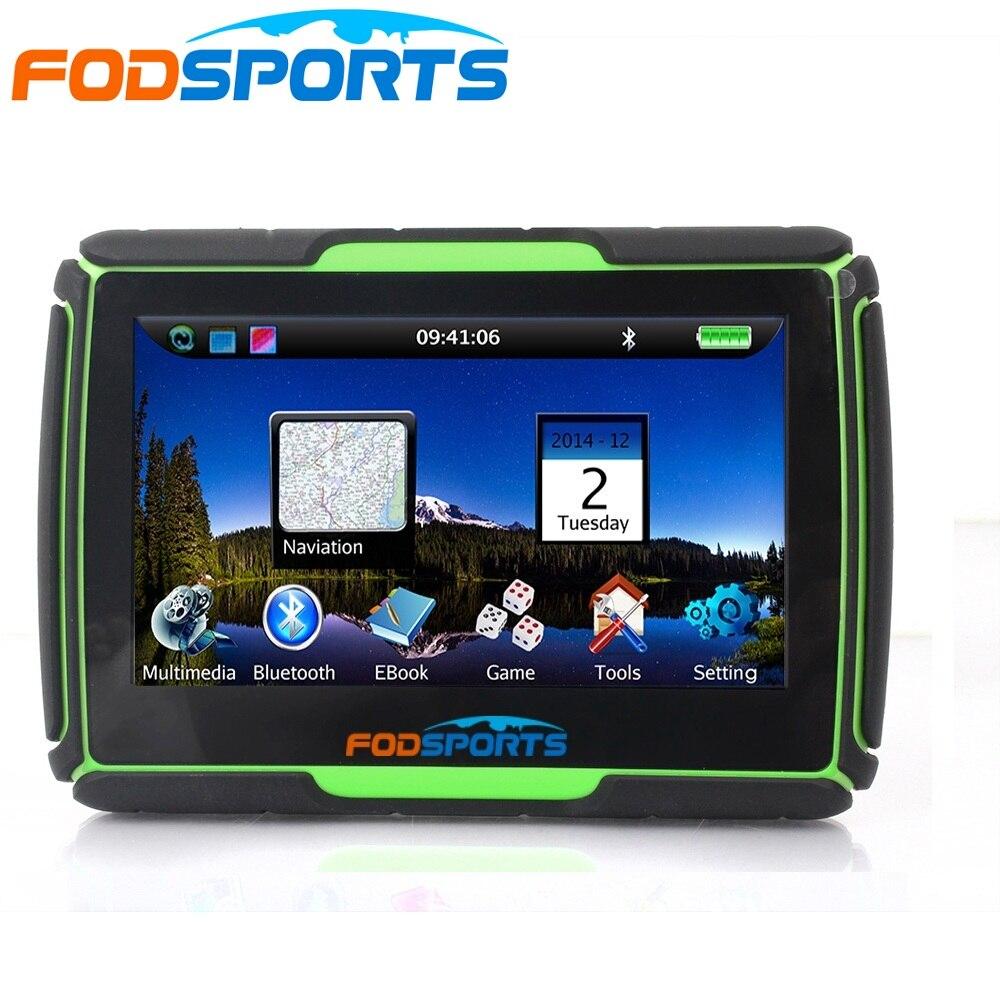3 cores disponíveis, versão mais recente 4.3 Polegada 8 gb 256 mb RAM À Prova D' Água Moto Bluetooth Navegação GPS para a Motocicleta + Mapas Gratuitos