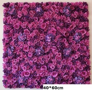Image 5 - 60X40CM Artificial Silk Rose Flower Wall Wedding Christmas Decoration Decorative Silk Hydrangea Wedding Decoration Backdrop