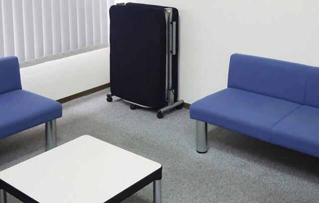 Japanese Modern Lazy Metal Folding Bed With Mattress Bedroom Furniture  Portable Platform Bed Reclining Single Sleeping Futon Bed