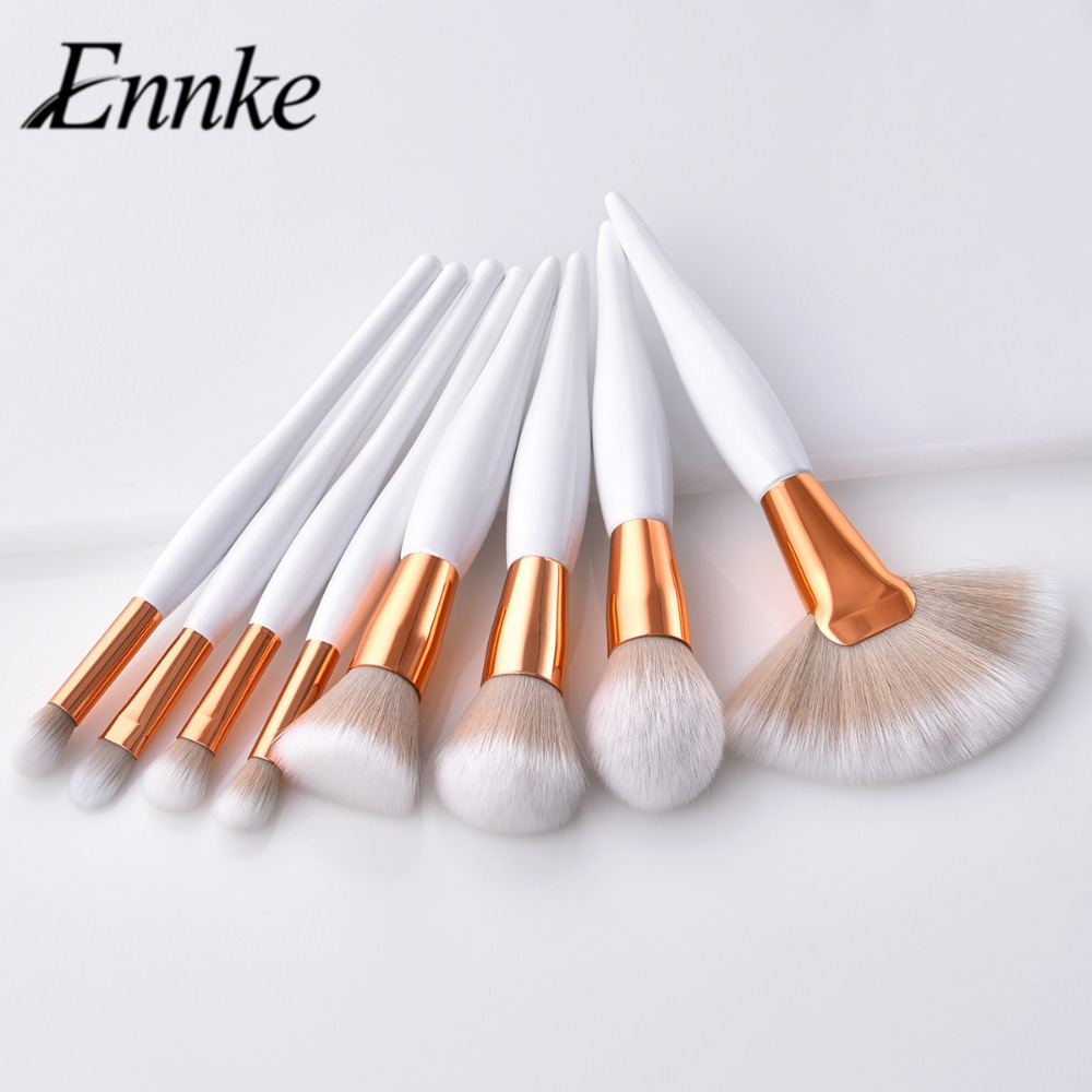 2019 8Pcs Professional Makeup Brushes Set Powder Blush Foundation Eyeshadow Make Up Fan Brushes Cosmetic Kwasten Sets(China)