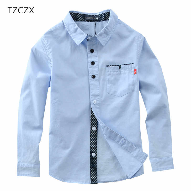 19525ed708e Лидер продаж для мальчиков рубашки однотонные Детские рубашки из 100%  хлопка Костюмы для От 4