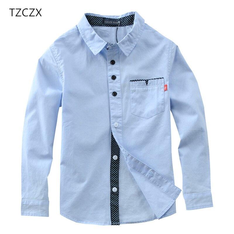 Heißer Verkauf Kinder Jungen Shirts Baumwolle 100% Solide Kinder Shirts Kleidung Für 4-12 Jahre Tragen in der schule