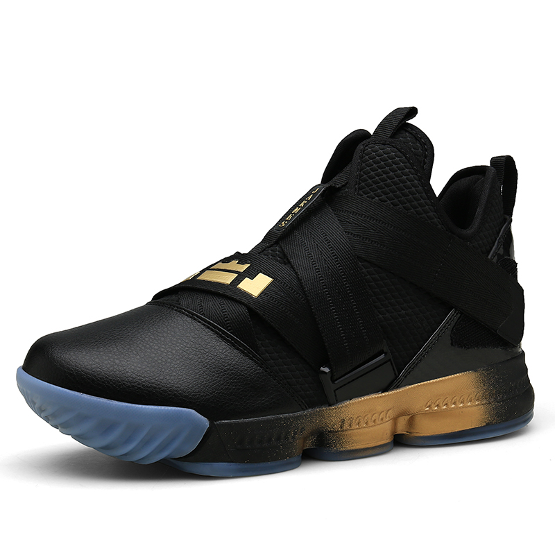 JARMES Hot Sale Basketball Shoes Hook & Loop China Lebron High Top Gym Training Ankle Boots Outdoor Sneakers Men Athletic Sport