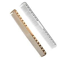 Profesionālā kosmosa alumīnija frizieru griešanas ķemmīte ar izturīgu un antistatisku frizieru frizūru Alunimium var izmantot ilgstoši