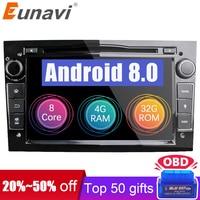 Eunavi HD 1024*600 Octa Core 2din Android 8.0 Car DVD Player For Opel Corsa Vectra C D Meriva Vivaro Tigra Signum Radio GPS Navi