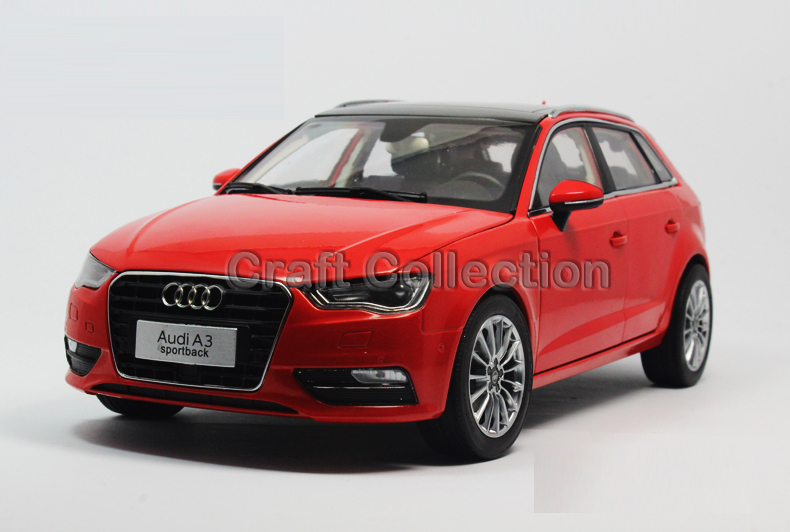 * Red 1:18 A3 Sportback SUV 2014 High-end Metal Model Car Diecast Vehicle Parts Several Colors Hatch back