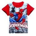 Bebê Meninos Verão Camiseta homem-Aranha Menino Curto-de mangas compridas T-shirt do Homem Aranha Crianças de Algodão de Moda Top Tee 2017 New Arrival 10C