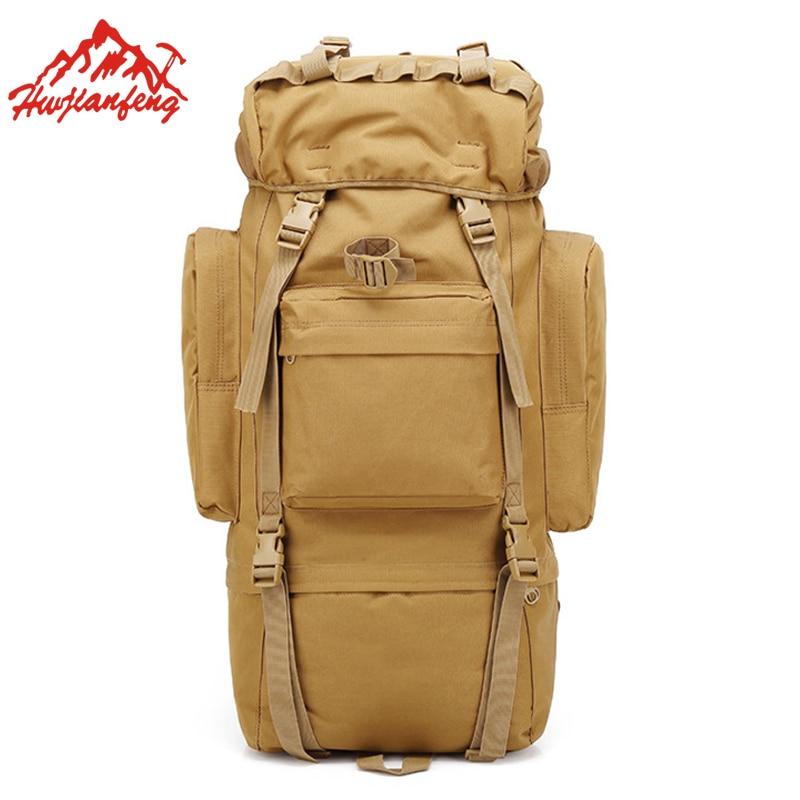 Large Capacity 65L Travel Sport Backpack Climbing Men Tactical Backpacks  Camping Trekking Rucksack Hiking Outdoor Bag
