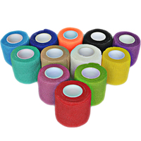24Pcs/Lot 5cm x 4.5m Self Adhesive elastic Cohesive Nonwoven Bandage wrap tape sports protection
