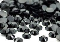 Черный Jet Цвет 2 мм, 3 мм, 4 мм, 5 мм, 6 мм грани плоской задней смола горный хрусталь Дизайн ногтей gements украшения Камни/Бусины