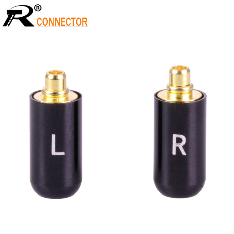 2Pcs/1Pair Enthusiasts Jack L/R MMCX Black/Silver Earphone Pin Plug For Shure ED5 SE535 Gold Plated Connector2Pcs/1Pair Enthusiasts Jack L/R MMCX Black/Silver Earphone Pin Plug For Shure ED5 SE535 Gold Plated Connector