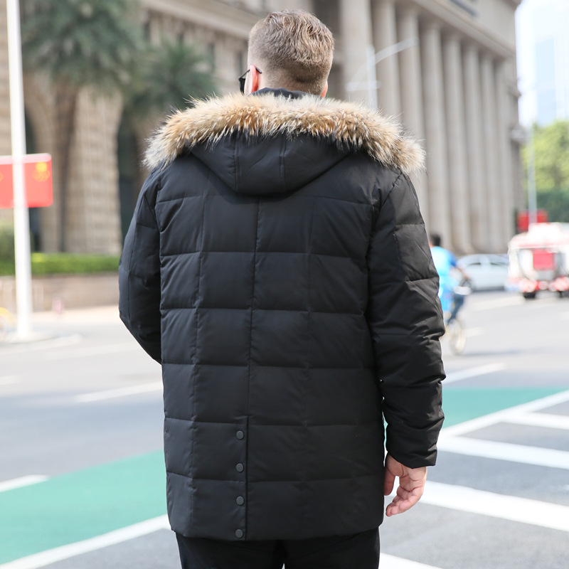 Homme Black Canard Plus Bas Mâle green Doudoune Kg Capuchon Colliers Manteaux 175 Grand Grandes D'hiver Yards Chaud Hommes Blanc Vers À Manteau De Stand Le Mode Tailles qRE4w6gx