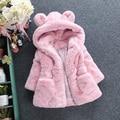 fleece jacket baby girl down coat thick winter warm pink children fur snow coat girls faux cute infant hooded coats for kids