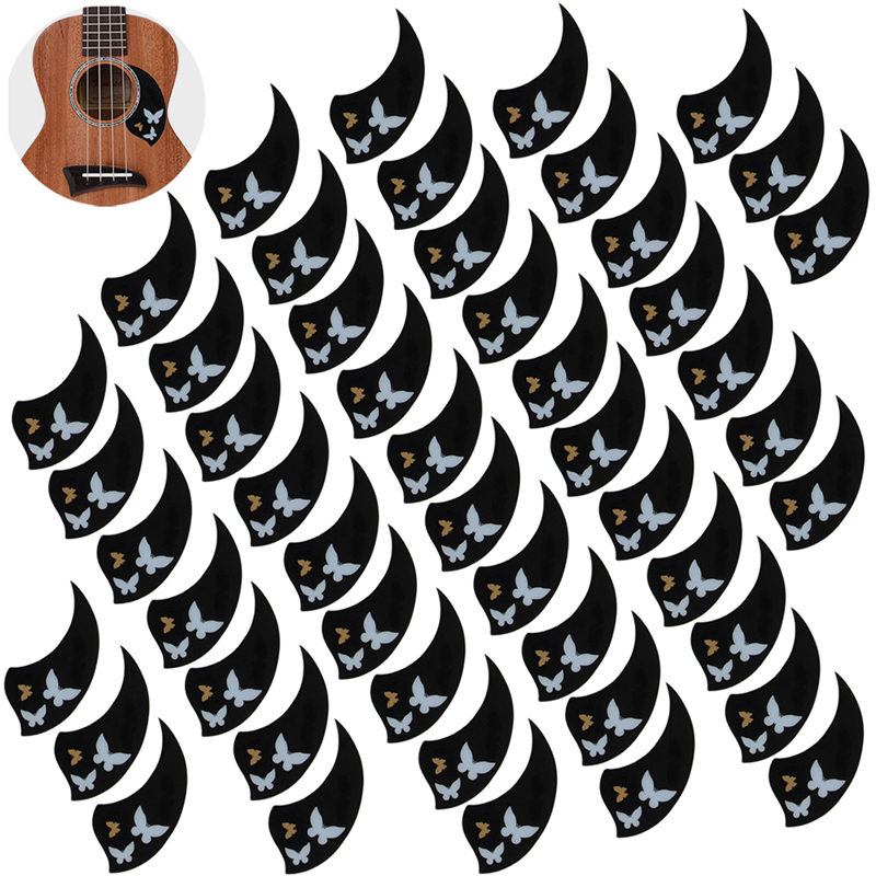 Ukulele Pickguard 26 Inch Tenor Hawaii Guitar Scratch Plate Adhesive Soft Self Stick Black Parts Pack of 50 12mm waterproof soprano concert ukulele bag case backpack 23 24 26 inch ukelele beige mini guitar accessories gig pu leather