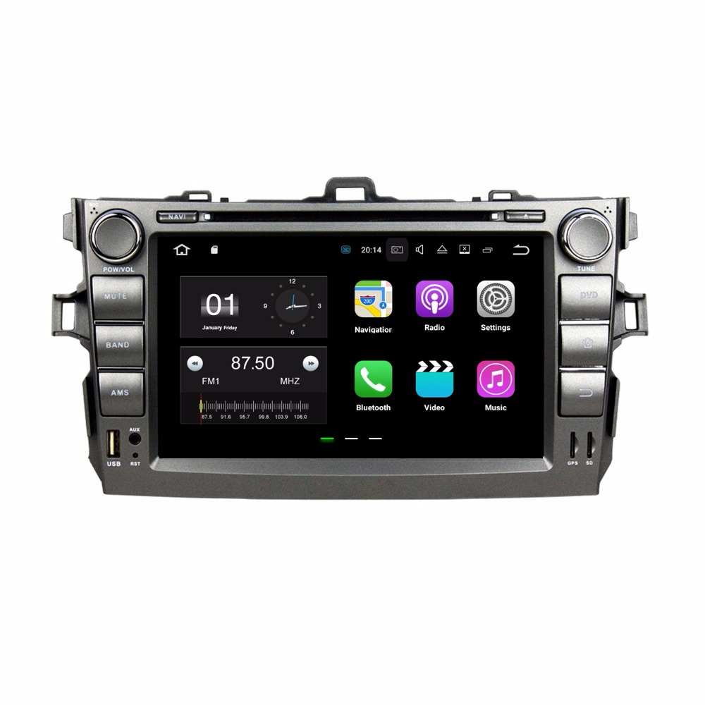 2GB RAM Quad Core 8 Android 7.1 Car Radio DVD for Toyota Corolla 2006 2007 2008 2008 2010 2011 With GPS Bluetooth WIFI 16GB ROM