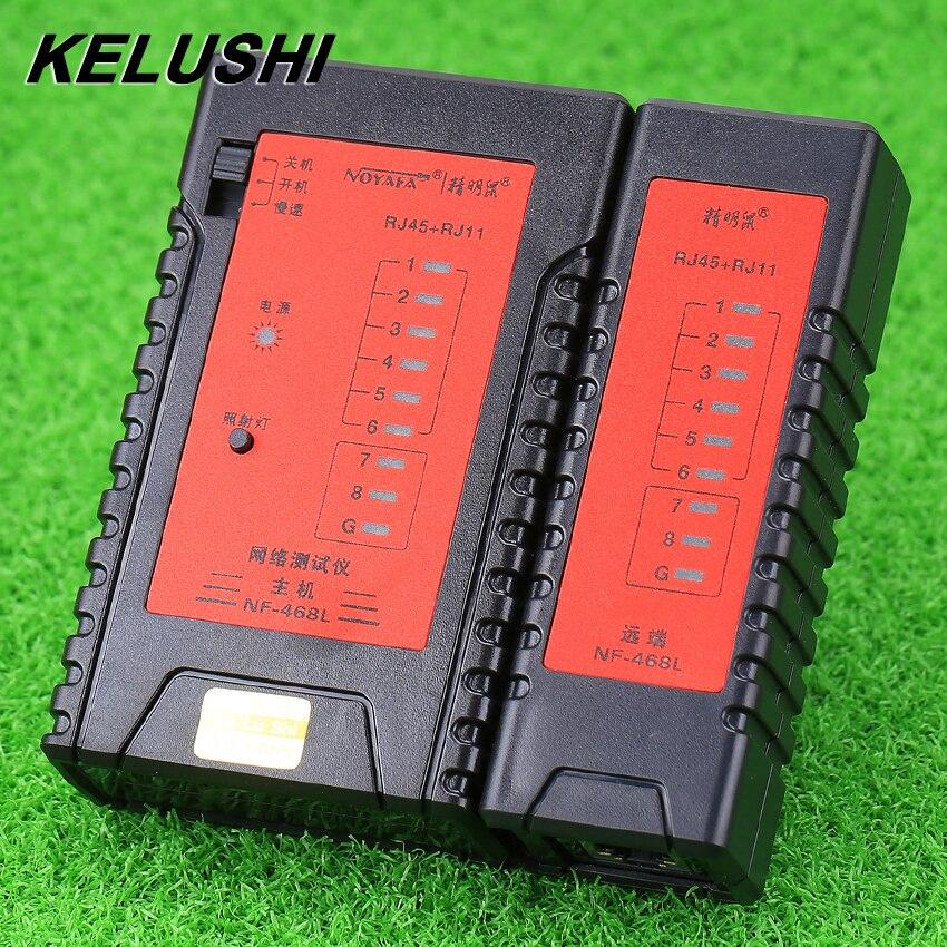 KELUSHI vroča prodaja dolžina kabla tester NF-468L večnamenski digitalni kabel sledilnik za dolžino test / iskanje angleško različico