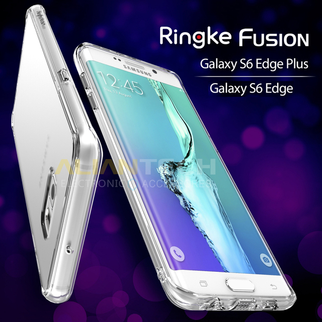 brand new 72fbe 1e86c US $14.99 |100% Original Ringke Fusion Case for Samsung Galaxy S6 Edge /  Samsung Galaxy S6 Edge Plus / S6 Edge+ Clear Back Cover Cases-in Fitted  Cases ...