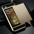 Capa celular para iphone 5c case 4S 5 cubierta del teléfono móvil de lujo cubierta para iphone 5s case ranura para tarjeta de oro diseño antideslizante teléfono casos