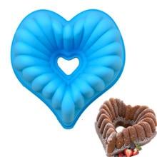 Антипригарные 10 дюймов формы для торта в форме сердца силиконовые DIY большой размер Формы для кексов хлеб Свадебный помадка инструменты для украшения торта Bakew