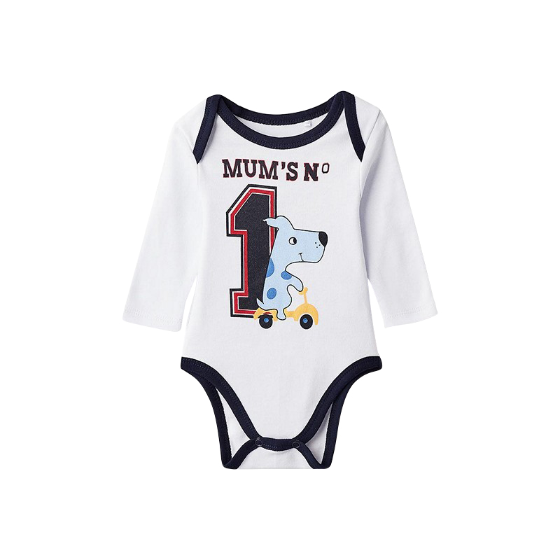 Bodysuits MODIS M182K00508 for baby boys kids clothes children clothes TmallFS chic quality cartoon baby clothes pattern removeable wall stickers