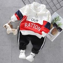 Ropa de moda para bebés de 1, 2, 3 y 4 años, conjunto de ropa con letras informales para primavera y otoño