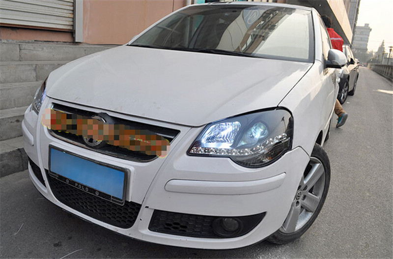 Free shipping vland factory headlamp for Volkswagen Polo LED headlight  H7 xenon lamps 2005 2011  plug and play design free shipping for vland car head lamp for great wall h6 2011 2013 led headlight hid bi xenon headlamp with led drl plug and play