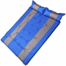 Outdoor Camping Inflatable Tent Mat Mummy Pads With Pillow Air Mattress Utralight camping mat car travel bed Moisture-proof pad цена 2017