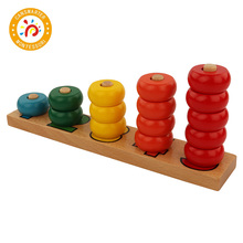Montessori Children Toy For Kid Home Colors Abacus Learning 1-5 Math