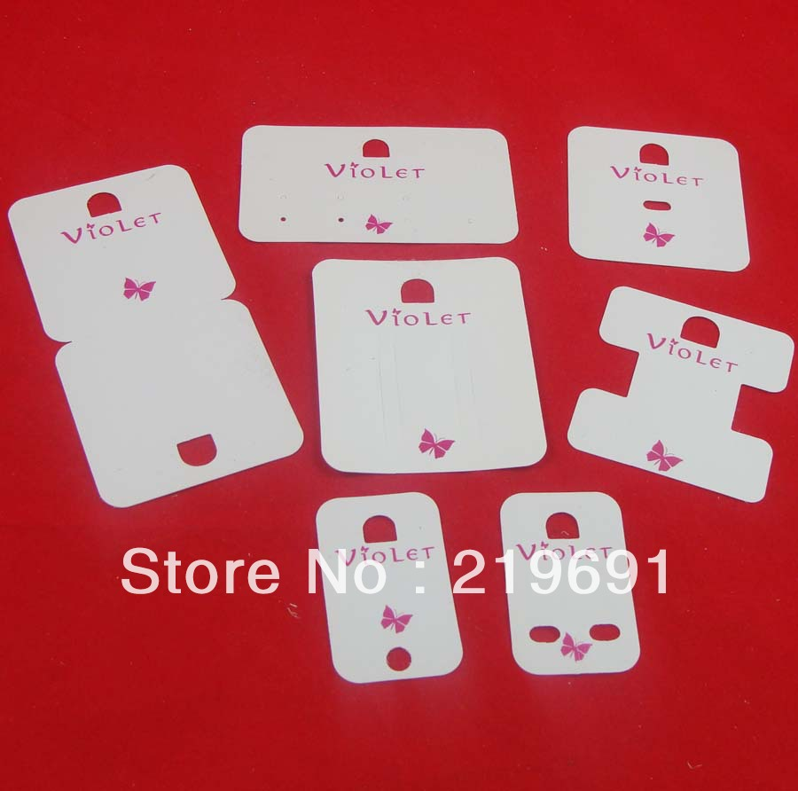 Wholesalefree Shipping Jewelry Card Set Custom Logo Necklace Card Earring  Card Hang Tag Sticker Label Customized
