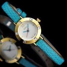 Top julius lady mulher relógio de pulso elegante mini crianças moda vestido horas pulseira de couro presente da menina da escola ja-677