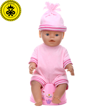 3 Colors Baby Born Doll Clothes Cute Round Hat+ Short Jumpsuits Suit Clothes fit 43cm Baby Born Zapf Doll Accessories  T7 baby born doll clothes fit zapf doll jumpsuit suit with cute hat doll pajamas sleeping clothes 18inch children birthday gifts