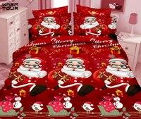 WARMTOUR 4 шт. 3D печатных Постельное белье постельное белье в полном расцвете 3D Рождеством Постельное белье s 4 шт. королева хороший салон справед
