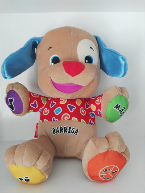 Portuguese Arabic Polish Japanese Swedish Lithuanian Speaking Singing Musical Dog Doll Baby Boy Girl Educational Stuffed Toys