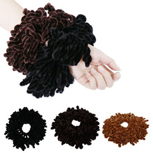 Diadema de goma Flexible para mujer, bandana musulmana, lazos para el cabello, Pompón, accesorios para el cabello