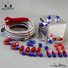 Универсальный бак для полировки топливных элементов 2 литра вихревой горшок системы+ гаечный ключ Серебряный