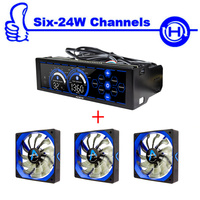 ALSEYE Computer Case Fan Controller And PWM 120mm Fan For Cpu Cooler 3 4pin 12v 2000RPM