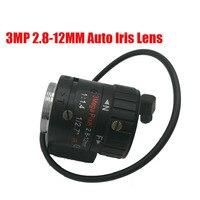 3 Megapixel HD 1 3 2 8 12mm DC Auto Iris Varifocal IR CCTV Lens CS