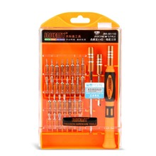 цена на Professional 33 In1 Multi-Bit Precision Torx Screwdriver Tweezer Cell Phone PC PSP Repair Disassembly Tool Set
