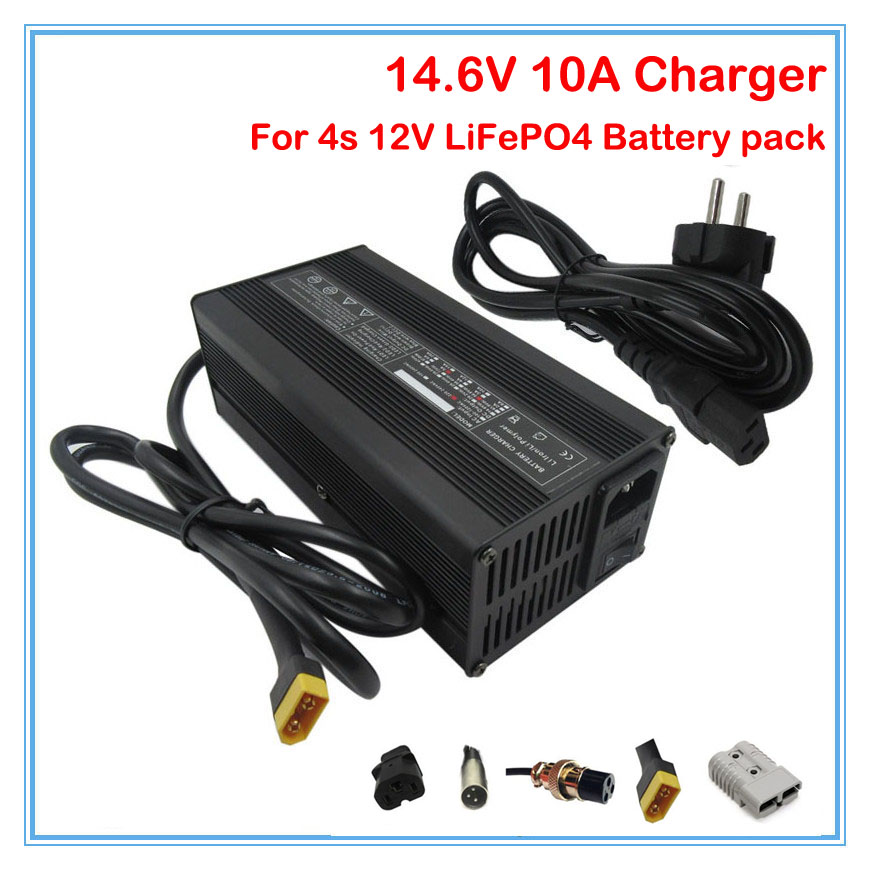 Modest 12v 10a Lifepo4 Battery Charger 14.6v 10a Charger Xt60 Port Use For 4s 12v 40a 50a 80a 100a Lifepo4 Battery Pack 10pcs Wholesale Bright In Colour Consumer Electronics Chargers