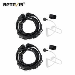 2 шт. Гибкая Горло микрофон наушники для рации PTT наушники Kenwood Baofeng UV-5R UV-82 Retevis H777 RT-5R RT22 RT3 RT81 RT7