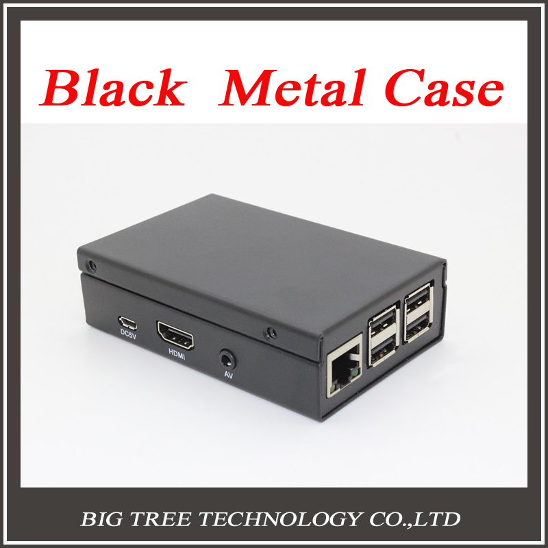 free shipping Black  Metal Box - Iron Case For Raspberry Pi B+ Model B Plus & Raspberry Pi 2 With Fan Also Fit For Camera diy