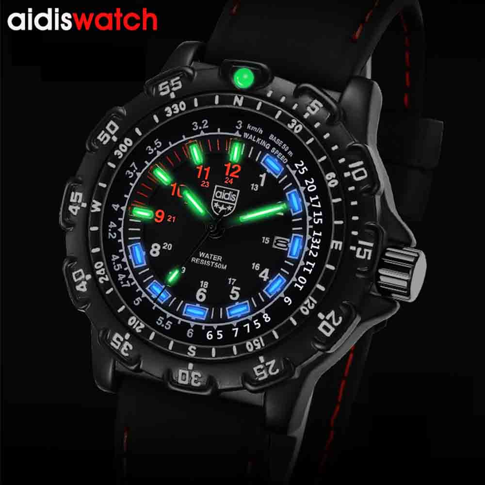 цена AIDIS High Quality Fashion Men Watches Relogio Masculino Steel Strap Quartz Watch Men Creative Sport Army Military Wrist Watch