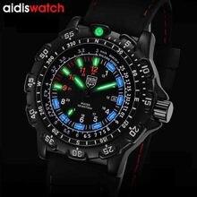 ¡Novedad de 2020! Relojes de lujo para hombre de Marca Top ADDIES, reloj luminoso de cuarzo, reloj de pulsera deportivo militar para hombre
