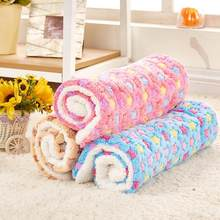 Breathable Dog Cat Bed Winter Rest Blanket Foldable Pet Hondenmand Coral Cashmere Cushion Soft Warm Sleep Mat Sweet Dream Bed(China)
