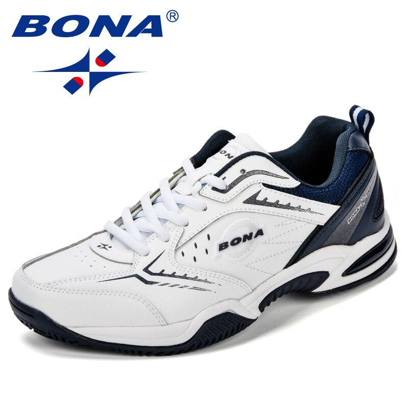 155d1603 BONA/Новое поступление; классические стильные мужские теннисные туфли;  кожаная мужская спортивная обувь; уличные кроссовки для бега; Быстрая ..