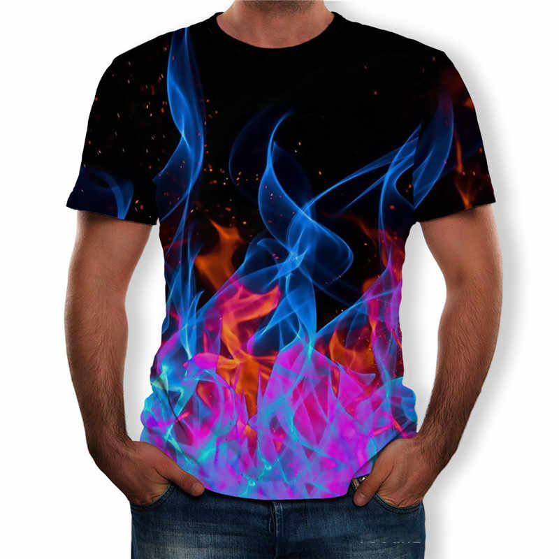 Mannen Korte Mouw O-hals Streetwear T-Shirts 2019 Nieuwe Zomer 3D Print Grote Maat Tops Tees Casual Losse Big Size Man t-Shirt