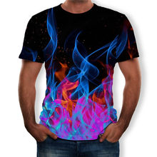 Mannen Korte Mouw O-hals Streetwear T-Shirts 2019 Nieuwe Zomer 3D Print Grote Maat Tops Tees Casual Losse Big Size Man t-Shirt(China)